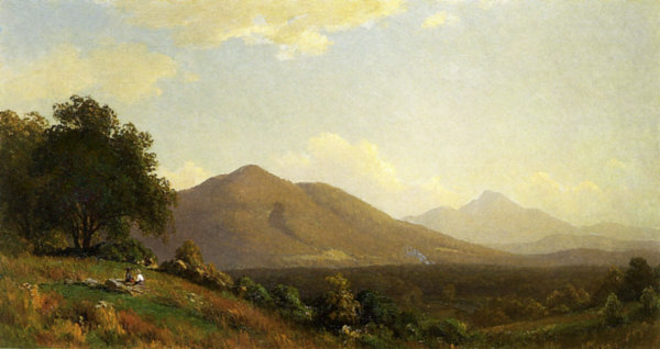 Cherry Mountain and Mount Lafayette from Jefferson by John Ross Key