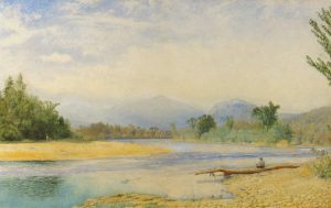 Mount Madison from the Androscoggin River, Shelburne by John William Hill