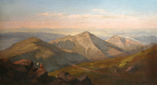 Presidential Range and the Great Gulf from the Summit of Mount Washington by Nicolay Tysland Leganger