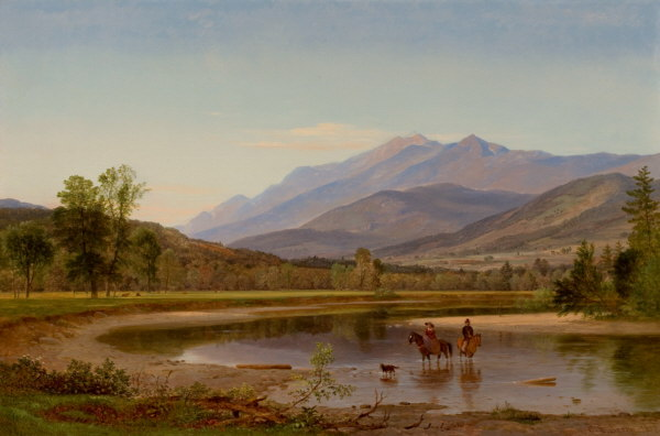 Franconia Mountains from the Pemigewasset River near Thornton by Samuel Lancaster Gerry