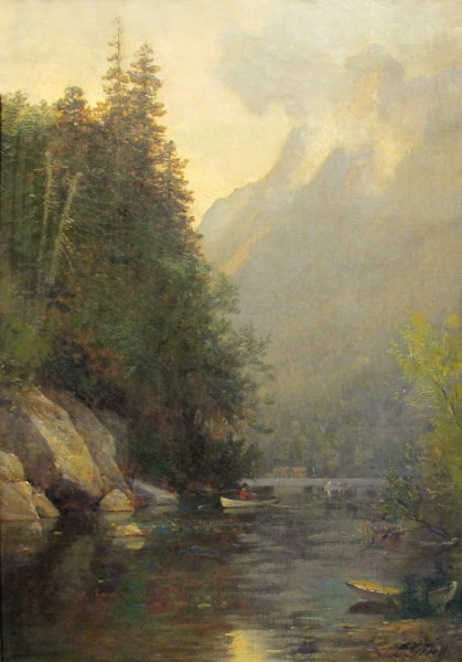Eagle Cliff from the Outlet of Profile Lake by Samuel Lancaster Gerry