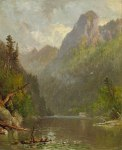 Eagle Cliff from Profile Lake, Franconia Notch by Samuel Lancaster Gerry