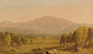 Mount Washington and Mount Madison from Shelburne by Sanford Robison Gifford