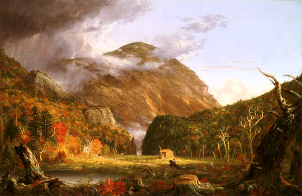 A View of the Mountain Pass Called the Notch of the White Mountains (Crawford Notch) by Thomas Cole
