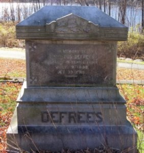 Memorial to Thaddeus Defrees Located within the Southborough, MA Rural Cemetary