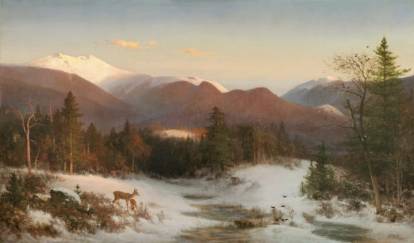 Mount Lafayette in Winter by Thomas Hill