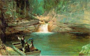 Merrill's Pool, Franconia Notch by Thomas Hill