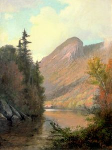 Eagle Cliff from Profile Lake by Thomas Hill