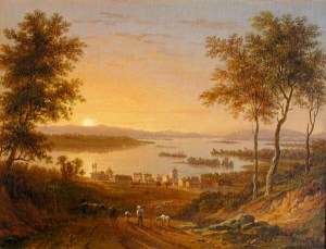Lake Winnipesaukee from Center Harbor attributed to Victor De Grailly