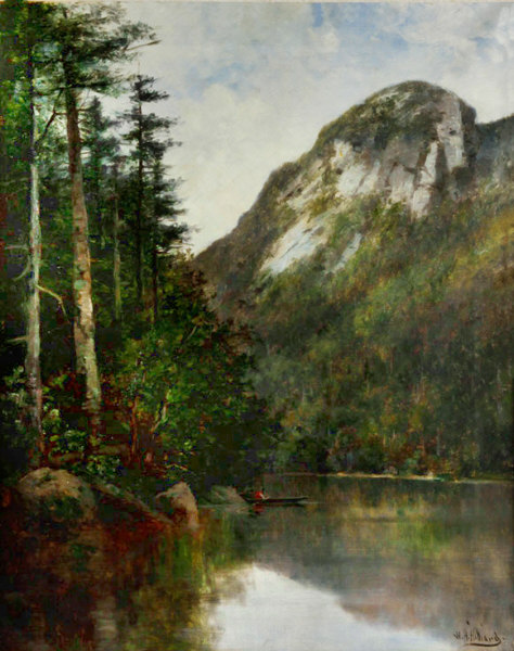Eagle Cliff from Profile Lake, Franconia Notch by William Henry Hilliard