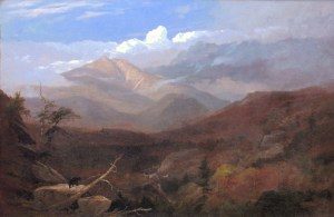 Mount Lafayette and Bear from Franconia by Charles B. Russ