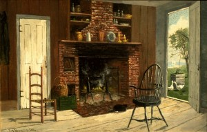 Old Kitchen, Duxbury, Massachusetts by Frank Henry Shapleigh