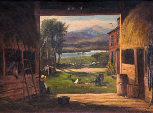 Mount Washington from Old Barn, Bridgton, ME by Frank Henry Shapleigh