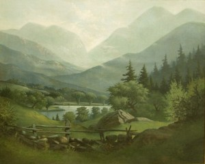 Franconia Notch from North Woodstock by Franklin Stanwood