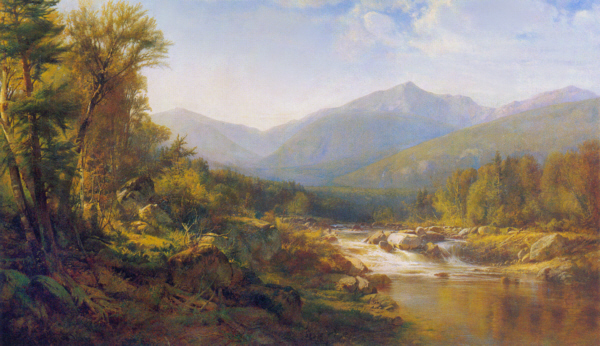 Mounts Jefferson, Adams, and Madison from the Peabody River, Pinkham Notch by Alexander Helwig Wyant
