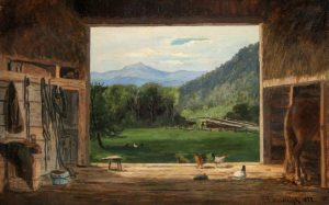 Old Barn at Jackson with View of Moat Mountain by Frank Henry Shapleigh