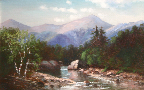 Presidential Range and the Ammonoosuc River by Frank Henry Shapleigh