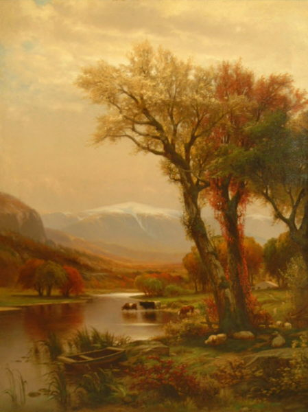 Mount Washington from the Saco Valley by John Carleton Wiggins