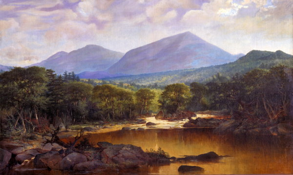 Mount Washington and Mount Madison from the Junction of the Peabody and Androscoggin Rivers, Gorham by John Mix Stanley