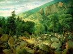 Leadmine Ledge below the Ridge of Mount Hayes, Gorham by John Mix Stanley