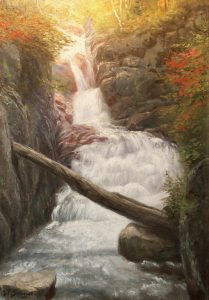 Beecher Cascade in Crawford Notch by Jean Paul Selinger