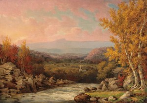 Moat Mountain from the Top of Jackson Falls by John White Allen Scott