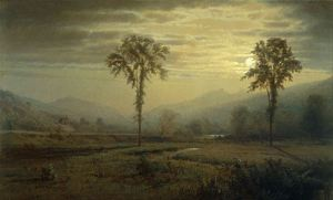 Moonlight on Mount Lafayette, Franconia Notch from North Woodstock by Willaim Trost Richards