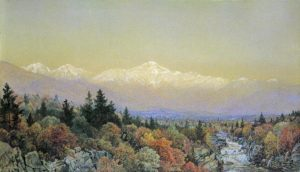 Presidential Range and Lower Ammonoosuc Falls from Fabyan by William Trost Richards