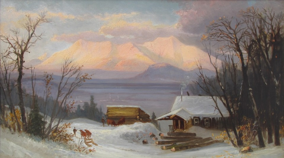 Moat Mountain in Winter from Hurricane Mountain, North Conway by Benjamin Champney