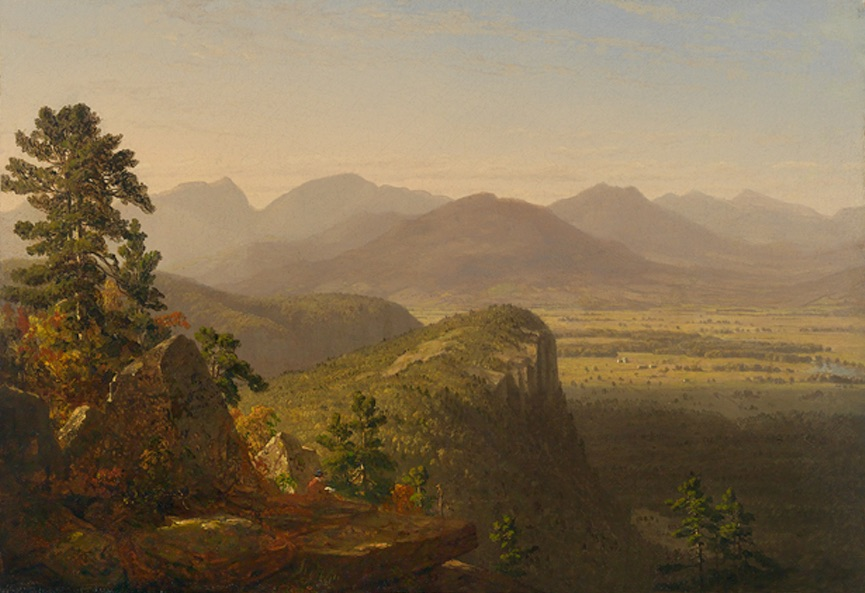 Sketching from the Top of White Horse Ledge by Sanford Robinson Gifford