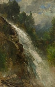 Mill-Brook Cascade at Thornton by Samuel Lancaster Gerry