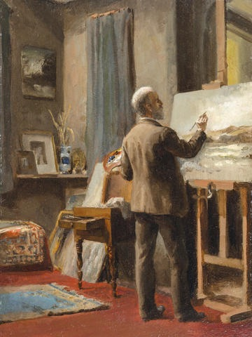 William Trost Richards (1833-1905) portrait by his daughter, Anna Richards Brewster, 1888