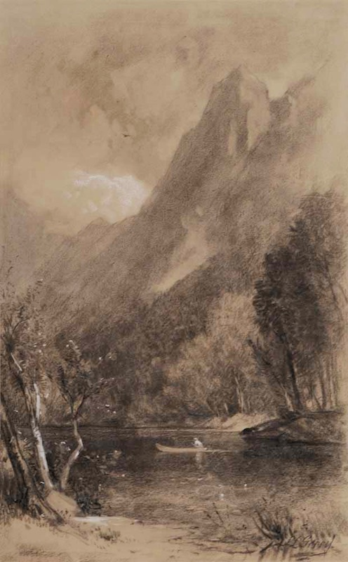 Eagle Cliff from Profile Lake by Samuel Lancaster Gerry