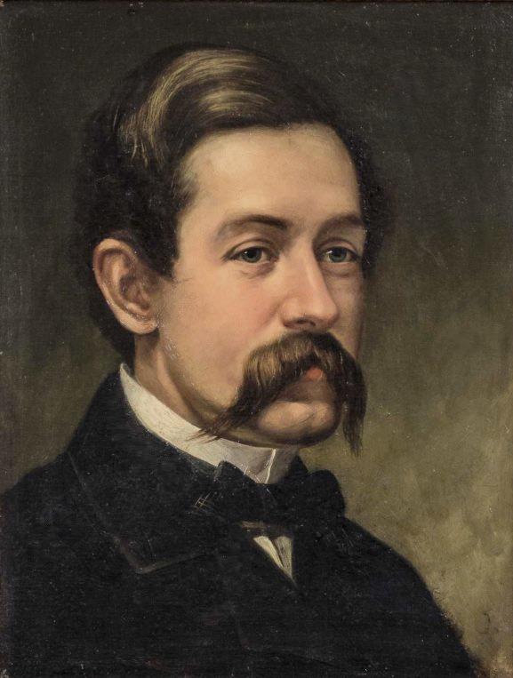 Self-portrait of David Johnson (1827-1908)