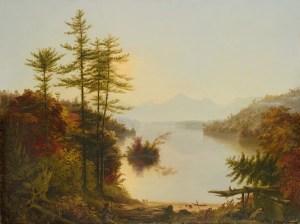 View on Lake Winnipiseogee [sic] by Thomas Cole