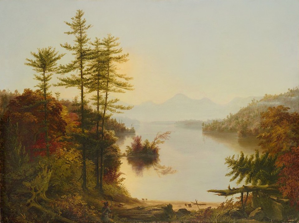 View on Lake Winnipiseogee [sic] by Thomas Cole