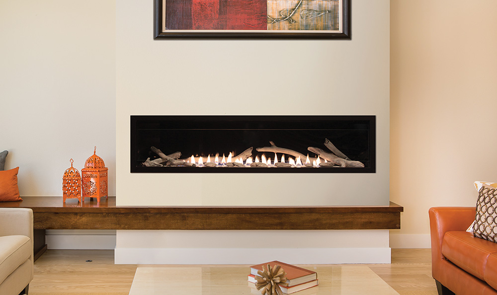 Boulevard Vent Free Linear Contemporary Fireplace 60quot