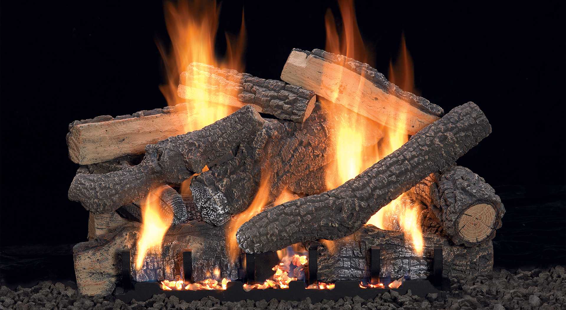 Ceramic Logs For Gas Fireplace Traditional Log Sets White Mountain Hearth