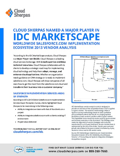 WhitePaperBox Cloud Sherpas Named a Major Player in IDC
