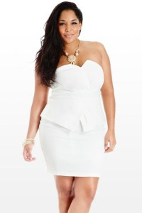 white plus size party dresses