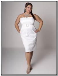 3 Short White Plus Size Party Dresses