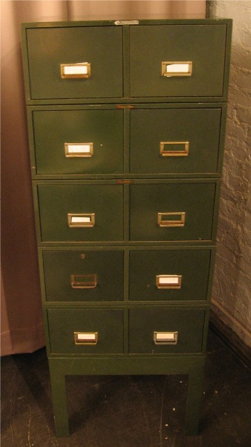 Poul Cadovius 1950s Army Green 5x8 Card Mini File Cabinets – Page 3514