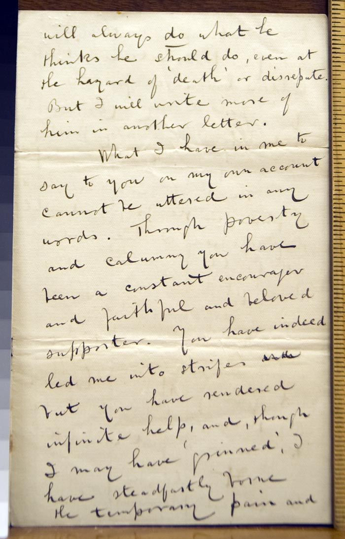 William Harrison Riley to Walt Whitman, 2 April 1879 (Correspondence