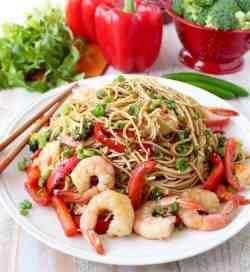 Cheery Bok Choy Shrimp Lo Mein S One Pot Teriyaki Shrimp Lo Mein 10 Shrimp Lo Mein