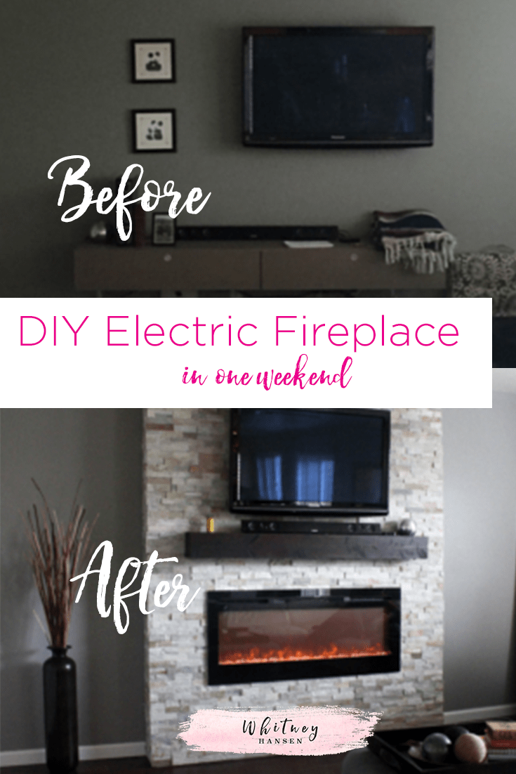 Living Room Electric Fireplace Diy How To Build A Fireplace In One Weekend Whitney Hansen
