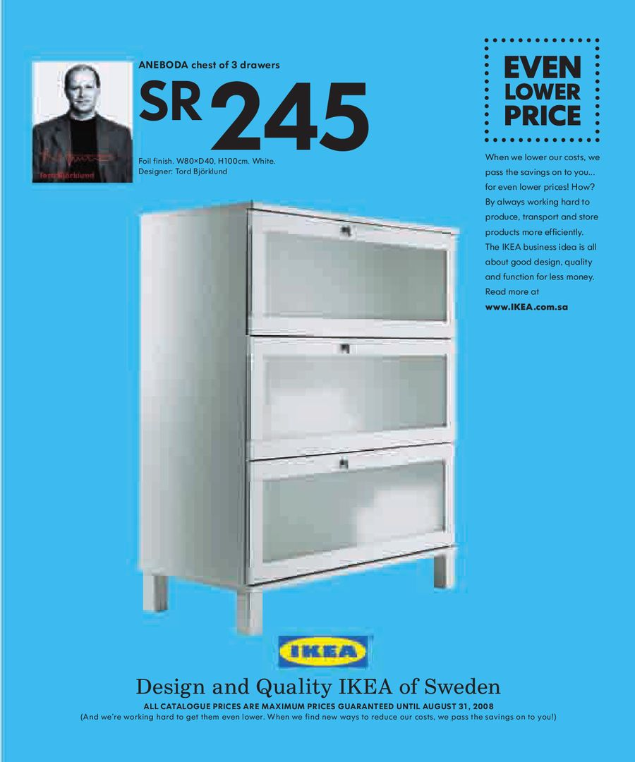 Aneboda Chest Of Drawers Page 123 Of Ikea Catalogue 2008