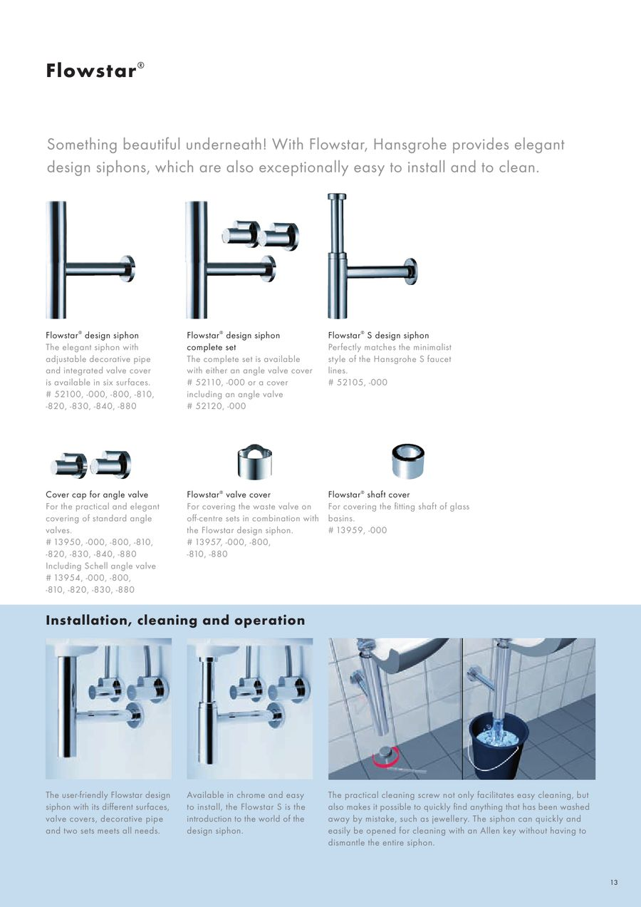 Hansgrohe Flowstar S Page 13 Of Waste Technology 2012