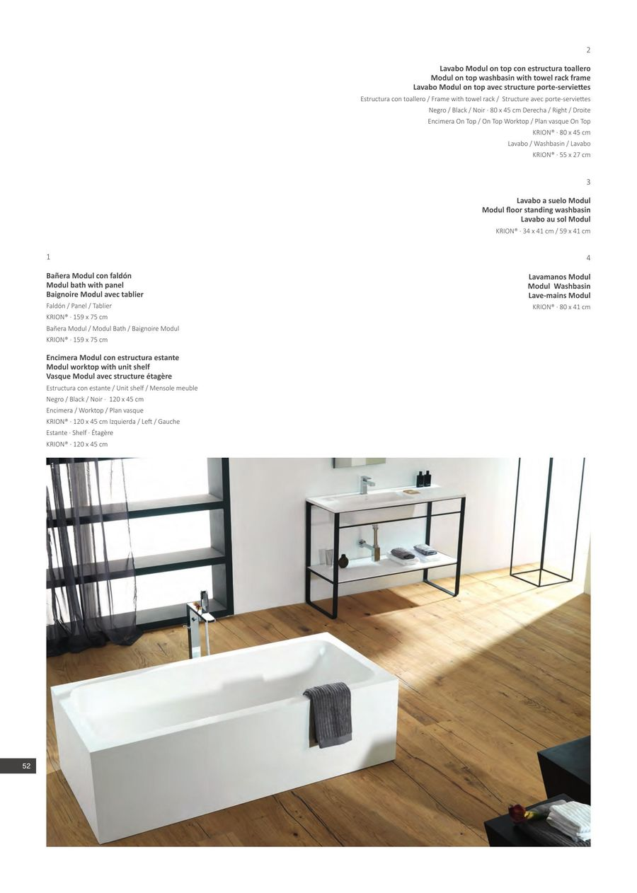 Plan Vasque 120 Page 52 Of Krion Bathrooms 2015