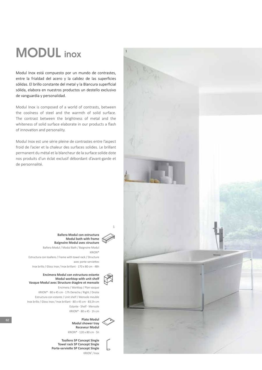 Plan Vasque 120 Page 61 Of Krion Bathrooms 2016