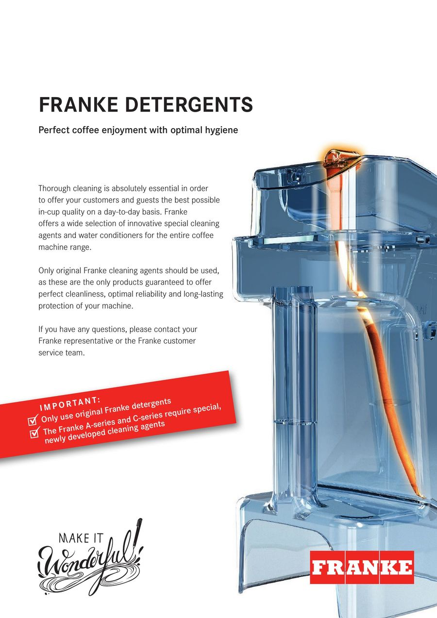 Franke Coffee Systems Detergents 2016 By Franke Coffee Systems